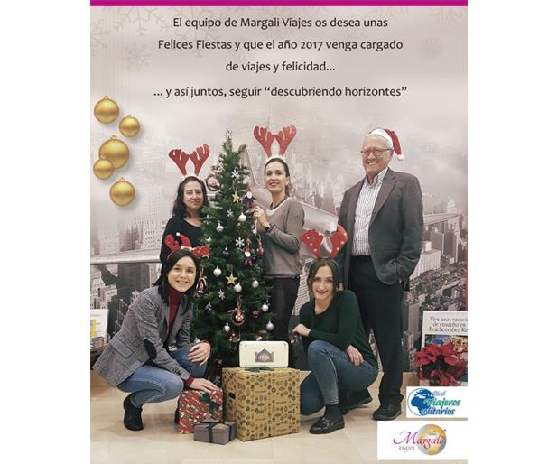 Margali Viajes os desea Felices Fiestas
