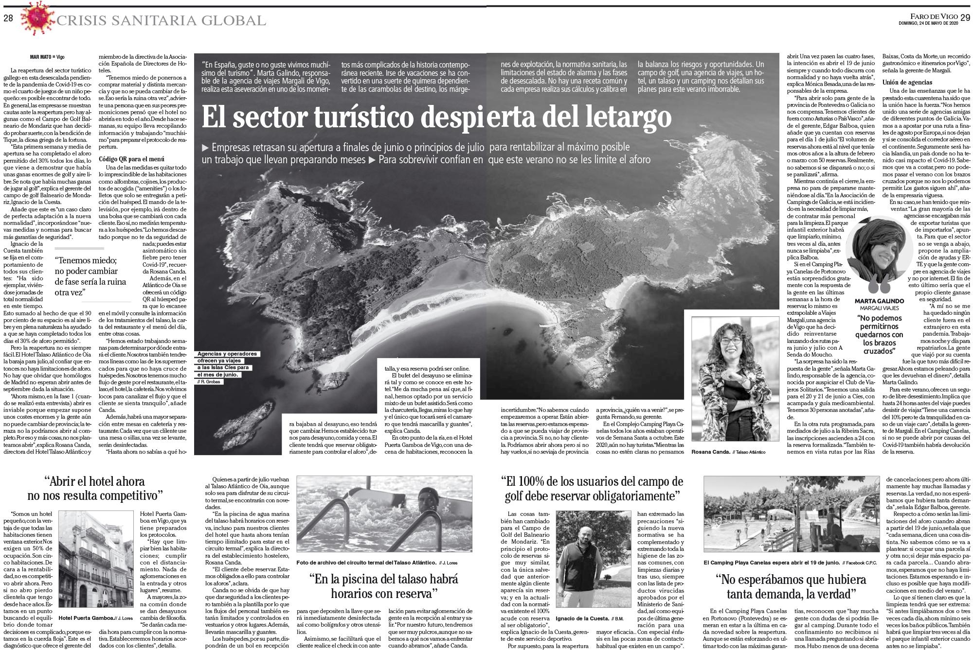 Entrevista Faro de Vigo Marta Galindo Gerente Margali