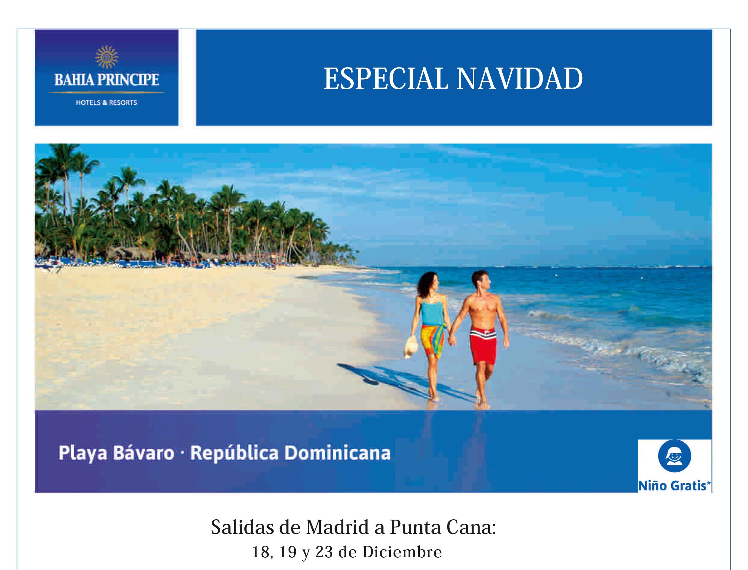 Viaje Especial Fin de Año. Playa Bávaro. República Dominicana