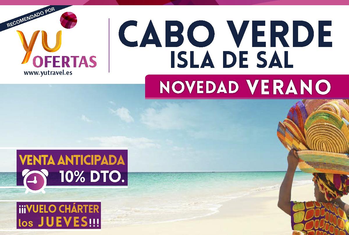 Cabo Verde. Isla de Sal. NOVEDAD VERANO. Venta anticipada 10% descuento.