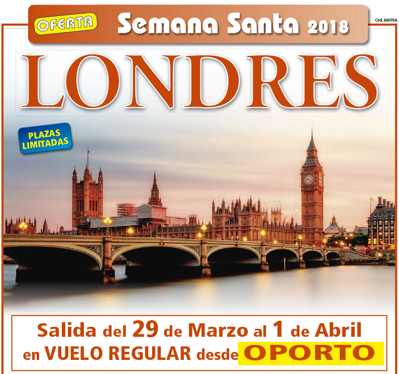 Londres. Oferta Semana Santa. Plazas Limitadas.
