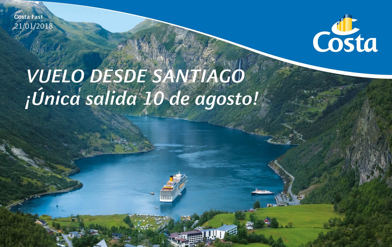 Especial Crucero por los Fiordos Noruegos con Costa Cruceros.