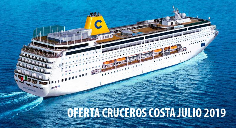 Ofertas Cruceros Costa Mes de Julio 2019